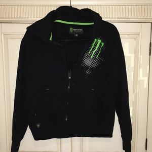 Monster Energy zip up hoodie Youth size Medium